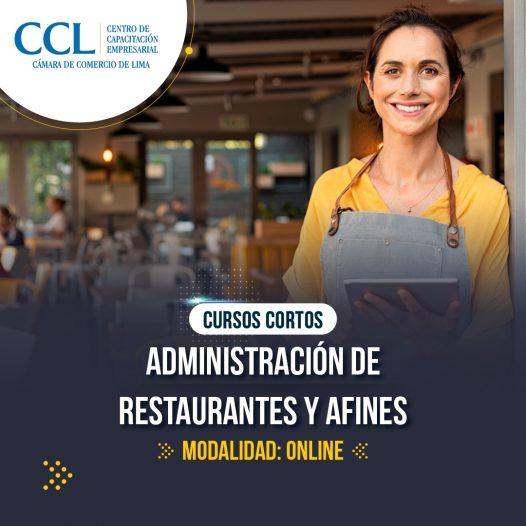 Administración de Restaurantes y Afines (CC-15 horas Online)